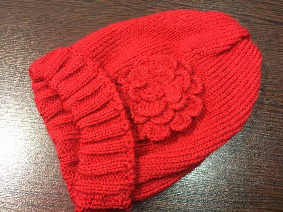 کلاه بافت گلدار کد 907