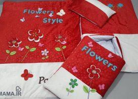 سرویس خواب مخمل 4 تیکه نوزادی مدل Flower
