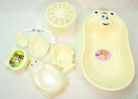 سرویس پلاستیک ۹ پارچه وان حمام تاتیا