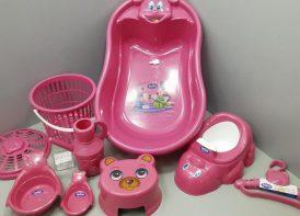 سرویس پلاستیک وان حمام ۹ پارچه تاتیا سرخابی