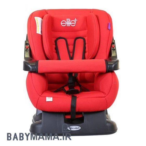 صندلی الیت پلاس نمای جلو مستقیم رنگ قرمز