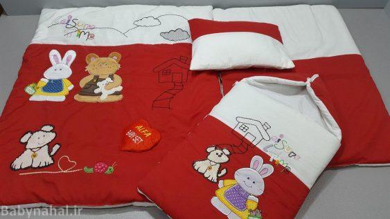 سرویس خواب ۴ تیکه تترون کودک مدل خرس و خرگوش