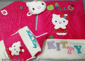 سرویس خواب ۴ تیکه مخمل نوزادی مدل کیتی
