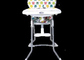 صندلی غذا خوری cute دلیجان شیطونکی سفید نمای رو به رو