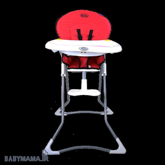 صندلی غذا خوری cute دلیجان قرمز رو به رو