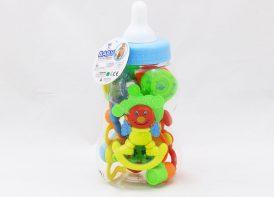 ست جغجغه کودک مدل شیشه شیر