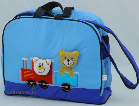 ساک لوازم کودک مدل خرس و قطار