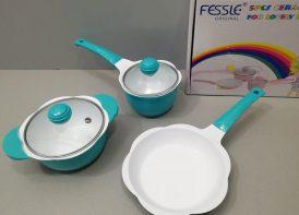 سرویس قابلمه 5 پارچه چدن Fessle