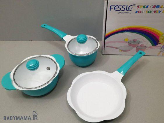 سرویس قابلمه ۵ پارچه چدن Fessle |
