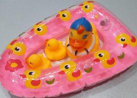 پوپت اردک با قایق بادی