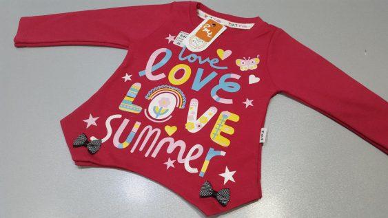 بلوز تک پنبه مدل love summer