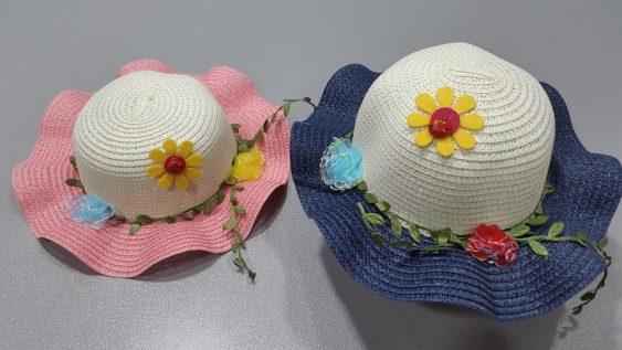 کلاه حصیری گل