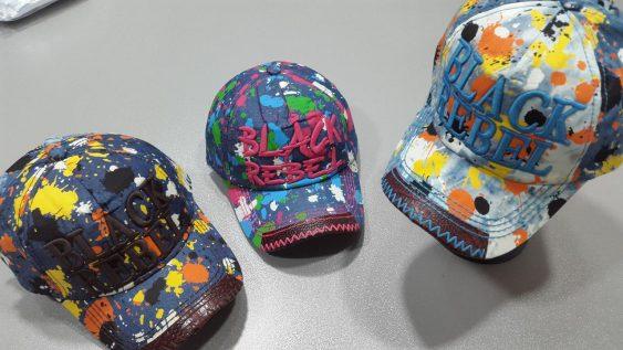 کلاه هفت رنگ لبه چرمی بلک ربل