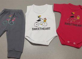 سه تیکه پنبه کودک مدل SweetHeart