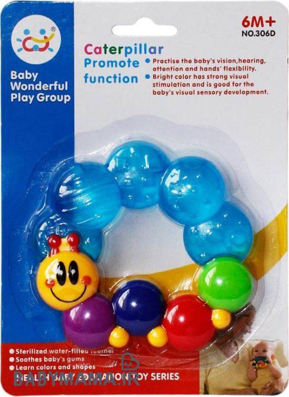 دندانگیر آبدار استریل مدل حلزون baby Wonderful play Group