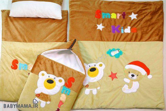 سرویس خواب ۴ تیکه مخمل کودک مدل اسمارت