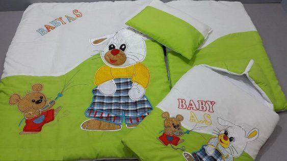 سرویس خواب ۴ تیکه تترون کودک مدل خرگوش و موش