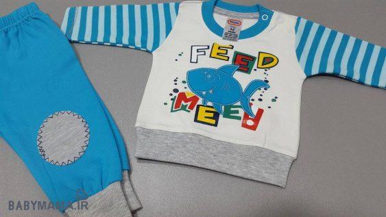 بلوز شلوار پنبه پسرانه بچگانه مایسا مدل Feed