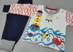 بلوز شلوار پنبه پسرانه بچگانه مایسا مدل Sailing