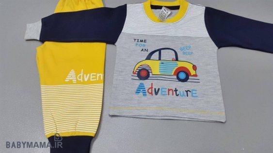 بلوز شلوار پنبه پسرانه بچگانه مایسا مدل adventure