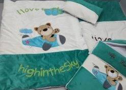 سرویس خواب مخمل 4 تیکه کودک مدل خرس خلبان