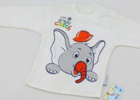 بلوز آستین بلند پنبه یقه دوبل مدل فیل