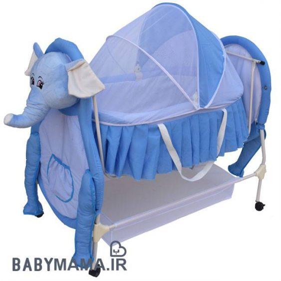 تخت و گهواره سانیکو فیل آبی