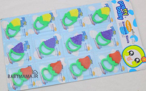 دندانگیر رنگی سیلیکون طعم دار Pretty baby