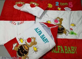 سرویس خواب مخمل 4 تیکه نوزادی مدل خرس و عسل