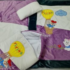 سرویس خواب 4 تیکه مخمل نوزادی مدل خرس و بالن