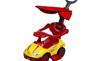 ماشین بازی موزیکال Mega car مدل سه کاره سایبان دار