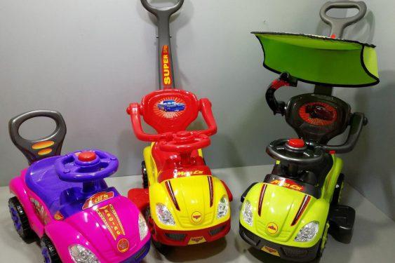ماشین بازی موزیکال سه کاره سایبان دار مدل Mega car