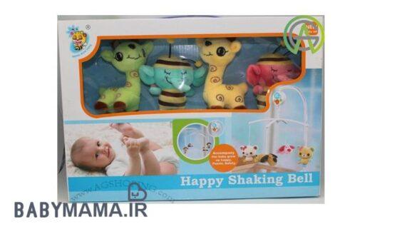 آویز تخت کوکی عروسکی و موزیکال Happy Shaking Bell 1