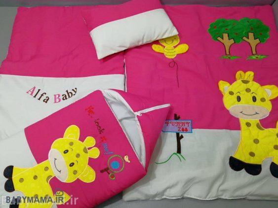 سرویس خواب تترون 4 تیکه نوزادی مدل زرافه