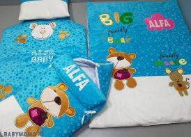 سرویس خواب مخمل 4 تیکه نوزادی مدل خرس و موش