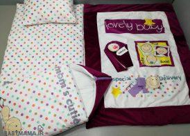 سرویس خواب مخمل 4 تیکه نوزادی mom's cutie مدل lovely baby