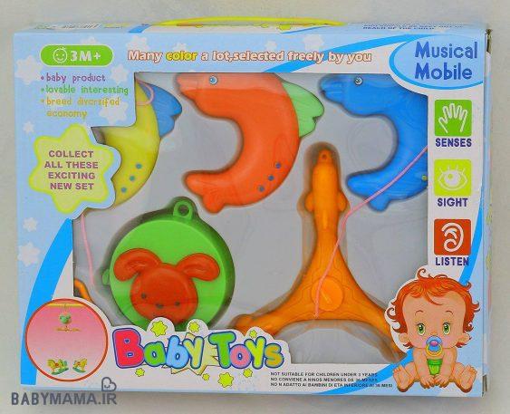 آویز تخت موزیکال baby toys مدل سه پایه