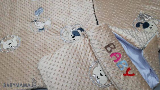 سرویس خواب مخمل ۴ تیکه نوزادی مدل Parshan