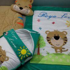 سرویس خواب مخمل 4 تیکه نوزادی مدل ببر و جنگل