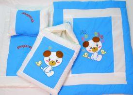 سرویس خواب تترون ۴ تیکه نوزادی مدل فلامنت خرس و جوجه