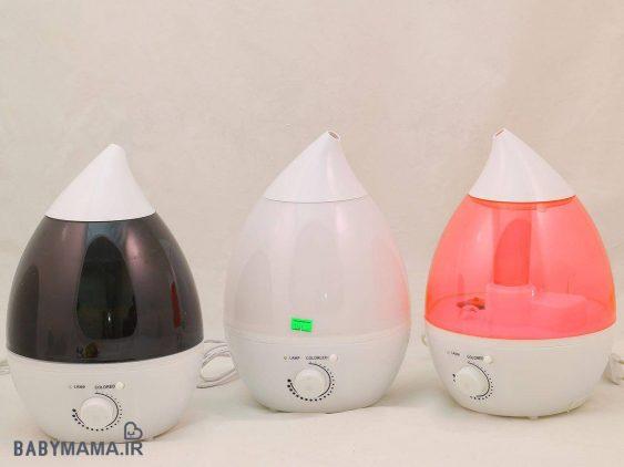دستگاه بخورسرد شب نمای LED 7 رنگ التراسونیک ۲٫۴ لیتری مدل قطره