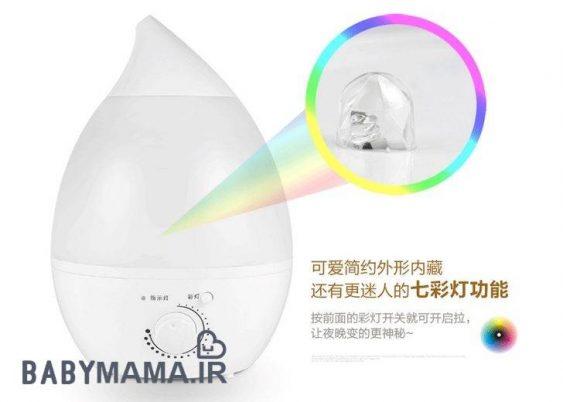 دستگاه بخور شب نمای LED 7 رنگ Ultrasonic 2.4 لیتری