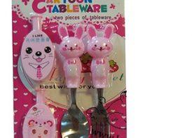 ست قاشق چنگال محافظ دار cartoon tableware