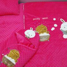 سرویس خواب مخمل نوزادی مدل خرگوش و گربه