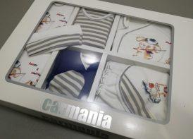 ۱۹ تیکه نوزادی پنبه کارمانیا مدل striped & dog