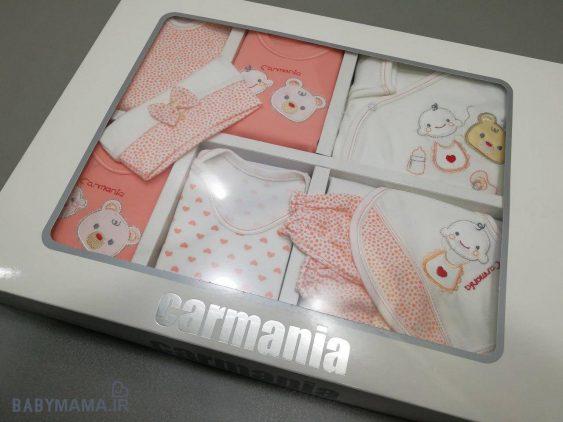 ۱۹ تیکه نوزادی پنبه گلدوزی کارمانیا مدل beat & newborn 3