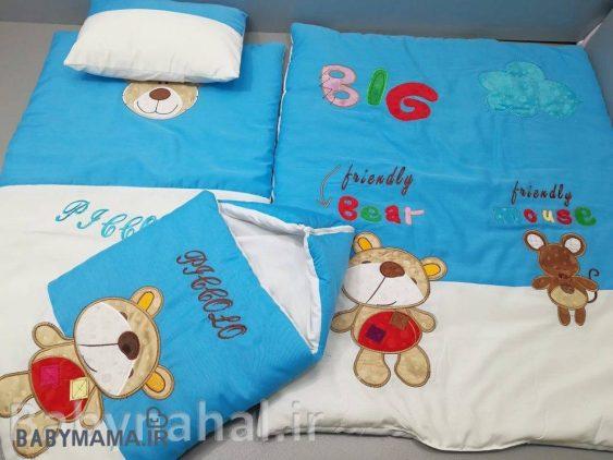 سرویس خواب تترون 4 تیکه کودک مدل خرس و موش