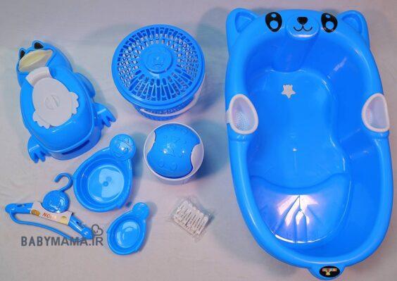 سرویس پلاستیک ۸ پارچه وان حمام ارابه مدل پاندا