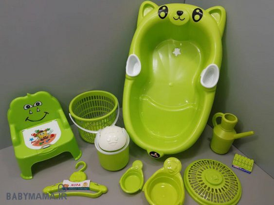 سرویس پلاستیک ۱۰ پارچه وان حمام ارابه مدل پاندا