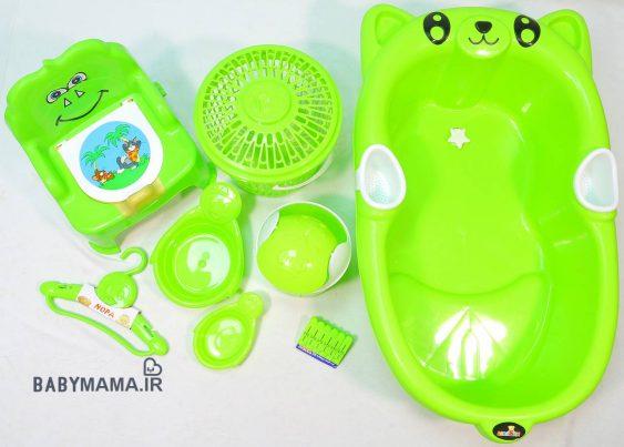 سرویس پلاستیک 8 پارچه وان حمام ارابه مدل پاندا